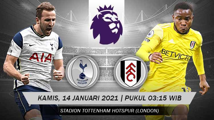 LINK Live Streaming Pertandingan Premier League : Tottenham Hotspur vs Fulham